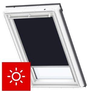 Roleta dekoracyjna RSL Velux sterowana solarnie kolory podstawowe